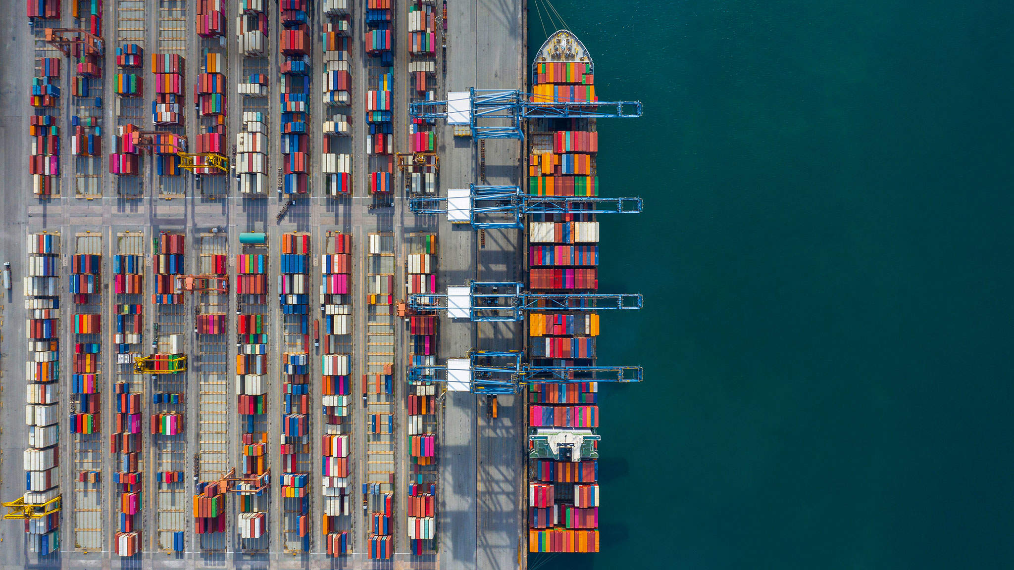 Sea freight connects different worlds