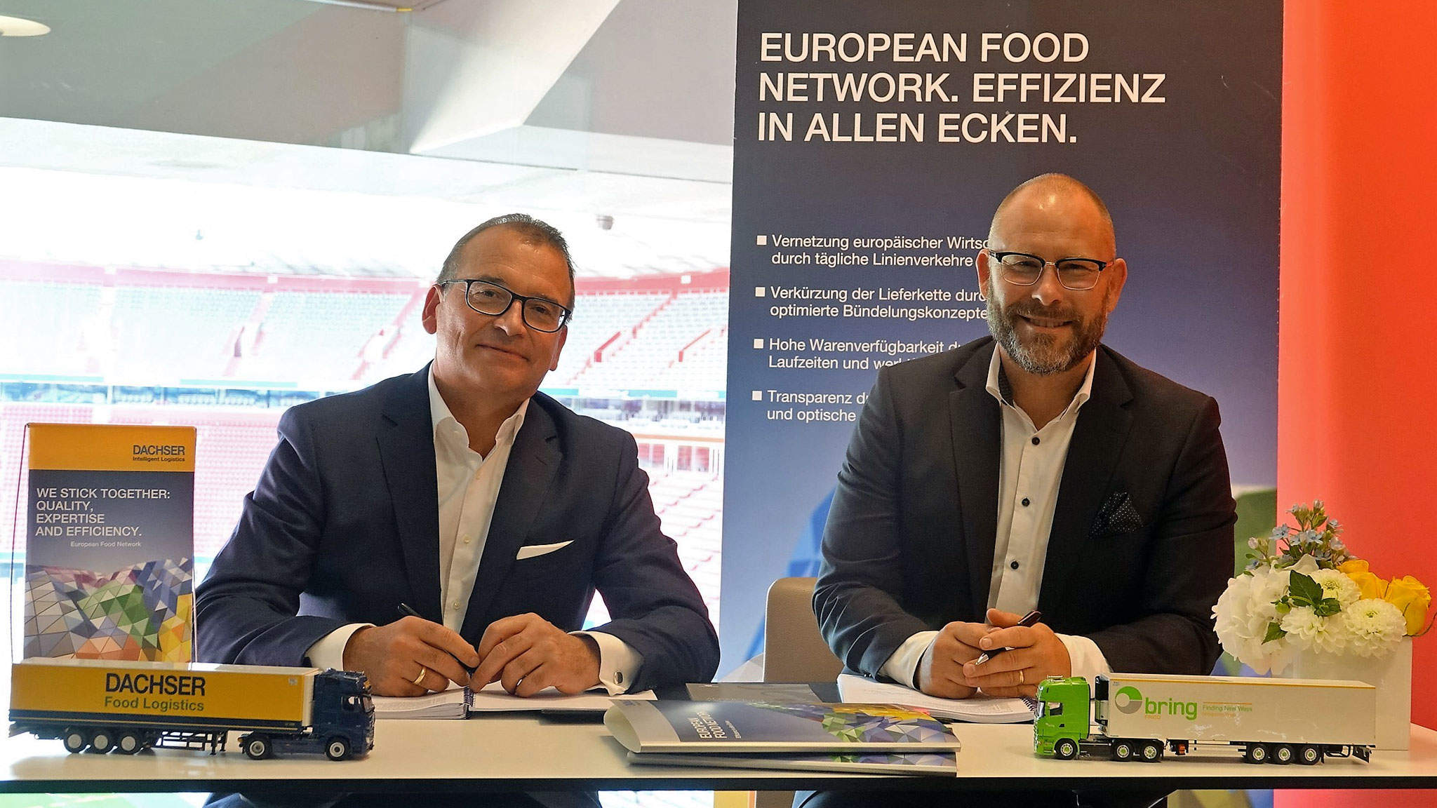from left to right: Alfred Miller, Managing Director DACHSER Food Logistics and Peter Haveneth, Managing Director Bring Frigo AB.